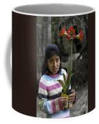 Girl With Flower Coffee Mug