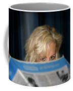 Girl With Umbrella Coffee Mug by Henrik Lehnerer