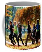 Girls Jogging On An Autumn Day Coffee Mug