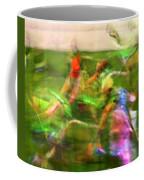 Girls Lacrosse Abstract Coffee Mug