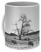Give Me A Home Where The Buffalo Roam Bw Coffee Mug