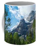 Glacier Seen From Kicking Horse Campground In Yoho Np-bc Coffee Mug