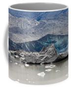 Glacier Tongue Calfing Icebergs Into Glacial Lake Coffee Mug
