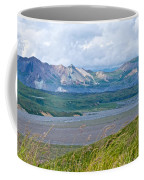 Glaciers And Mountains From Eielson Visitor's Center In Denali Np-ak  Coffee Mug