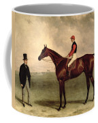 Gladiateur With Harry Grimshaw Up And His Owner Count Frederic De Lagrange Coffee Mug by Harry Hall