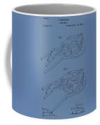 Glass Mold Patent On Blue Coffee Mug