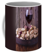 Glass Of Wine With Corks Coffee Mug