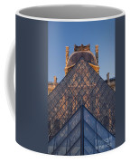 Glass Pyramid At Musee Du Louvre Coffee Mug