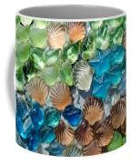 Glass Seashell Coffee Mug