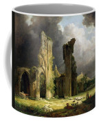Glastonbury Abbey With The Tor Coffee Mug