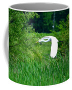Gliding Egret Coffee Mug