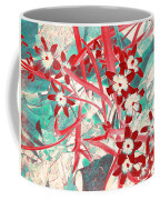 Glory Of The Snow - Red And Turquoise Coffee Mug