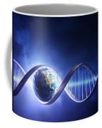 Glowing Earth Dna Strand Coffee Mug