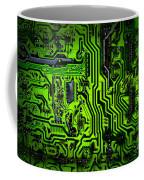 Glowing Green Circuit Board Coffee Mug
