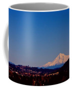 Glowing Mt Hood Coffee Mug