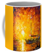 Glows Of Passion - Palette Knife Oil Painting On Canvas By Leonid Afremov Coffee Mug