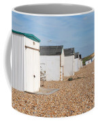 Glyne Gap Beach Huts In Sussex Coffee Mug