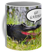 Go Gators Greeting Card Coffee Mug