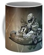 Go-kart Racing Grunge Monochrome Coffee Mug