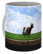Goat On A Sod Roof In Sister Bay In Wisconsin Coffee Mug