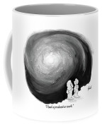 God Stands On A Cloud With His Wife Overlooking Coffee Mug