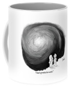 God Stands On A Cloud With His Wife Overlooking Coffee Mug by Tom Toro