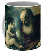God The Father And Angel Coffee Mug