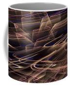 Gold Abstract Lights Coffee Mug