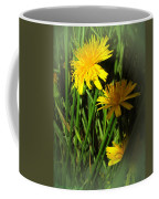 Gold And Green Coffee Mug
