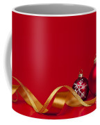 Gold And Red Christmas Decorations Coffee Mug