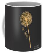 Gold Dandelion Coffee Mug