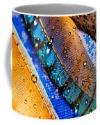 Gold Jay Feathers Coffee Mug