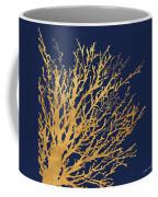 Gold Medley On Navy Coffee Mug