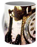 Gold Rotary Phone Coffee Mug