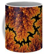 Golden And Black Fractal Universe Coffee Mug
