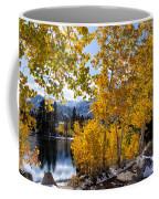 Golden Aspen On The Lake Coffee Mug