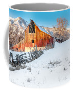 Golden Barn At Sunrise Coffee Mug