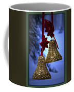 Golden Bells Green Greeting Card Coffee Mug
