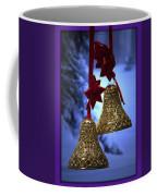Golden Bells Purple Greeting Card Coffee Mug
