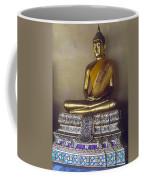 Golden Buddha On Pedestal Coffee Mug