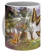 Golden Butterfly Rays Coffee Mug by Alixandra Mullins