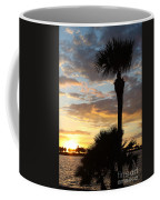 Golden Clouds Over Tampa Bay Coffee Mug