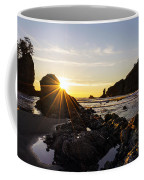 Golden Coastal Sunset Light Coffee Mug