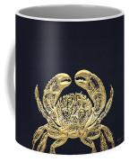 Golden Crab On Charcoal Black Coffee Mug