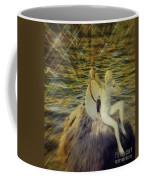 Golden Cupid Valentine Card Coffee Mug