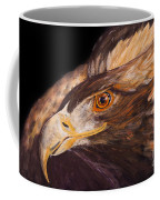Golden Eagle Close Up Painting By Carolyn Bennett Coffee Mug