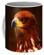 Golden Eagle Eye Fractalius Coffee Mug