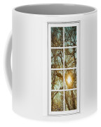 Golden Forest  Branches White 8 Windowpane View Coffee Mug