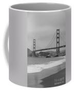Golden Gate Bridge And Beach Coffee Mug