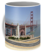 Golden Gate Bridge And Bike Path Coffee Mug